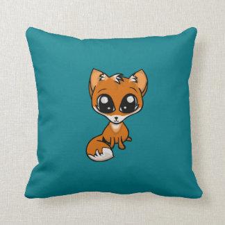 Cuddles Pls! Fox Throw Pillow