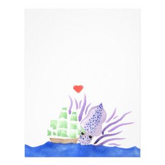 Cuddles the Kraken Letterhead