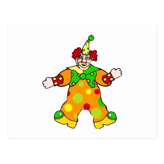 Cuddley Clown Postcard