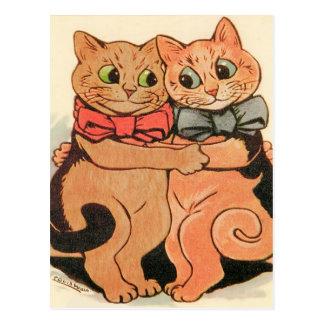 Cuddling Cats Postcard