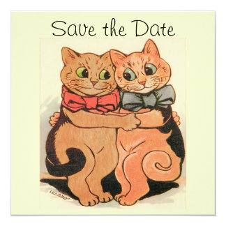 Cuddling Cats Save the Date Card