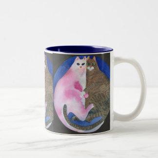 Cuddling Fat Cats Mug