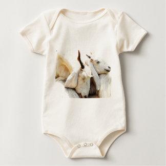 Cuddling Goats sleeper Baby Bodysuit