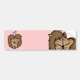Cuddling Hedgehogs in love Car Bumper Sticker