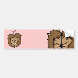 Cuddling Hedgehogs in love Bumper Stickers