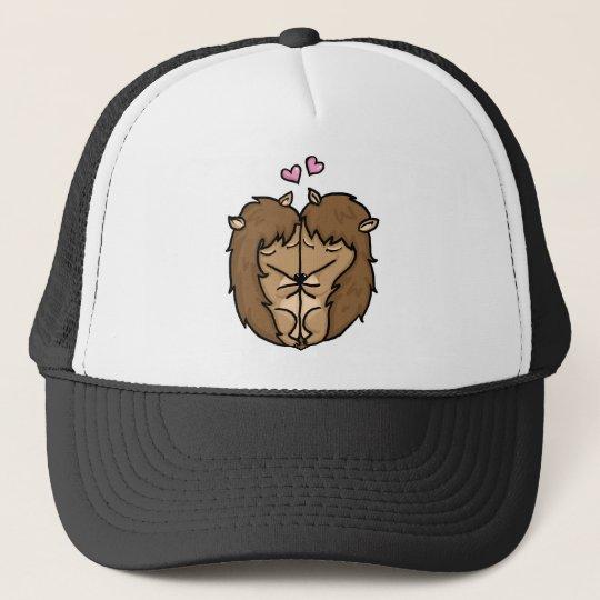 Cuddling Hedgehogs in love Trucker Hat