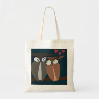 Cuddling Infatuated Owls Tote Bag