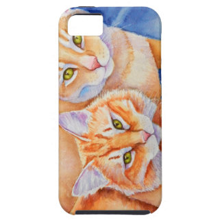 Cuddling Orange Tabby Cats iPhone SE/5/5s Case