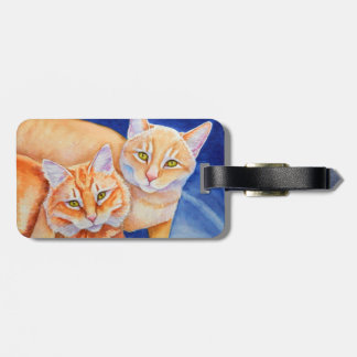 Cuddling Orange Tabby Cats Luggage Tag