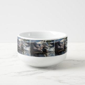 Cuddling Otters Soup Mug