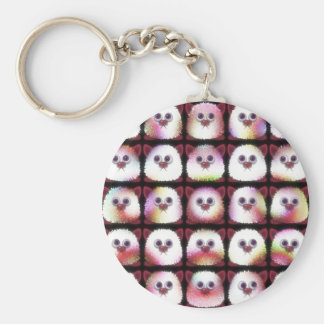 cuddly animal monsters keychain