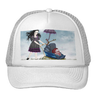 Cuddly Bacon White Bullcap Trucker Hat