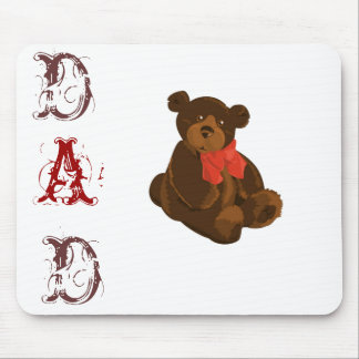 Cuddly Bear Dad Mouse Mat Mouse Pad