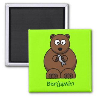 Cuddly bear magnet