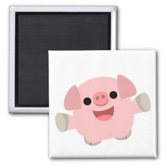 Cuddly Cartoon Pig magnet