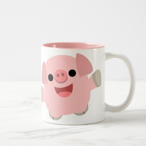 Cuddly Cartoon Pig Mug