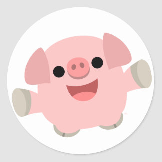 Cuddly Cartoon Pig Sticker