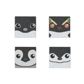 Cuddly Critters Penguin Magnet Set Stone Magnet