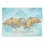 Cuddly Cuttlefish Valentine Greeting Card
