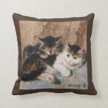 Cuddly Kittens Best of Friends Vintage Art Pillow