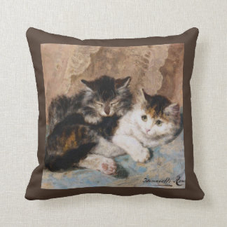 Cuddly Kittens Best of Friends Vintage Art Pillow