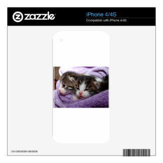 Cuddly Kittens Decals For The iPhone 4S