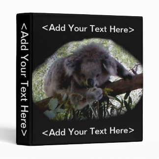 Cuddly Koala 3 Ring Binder