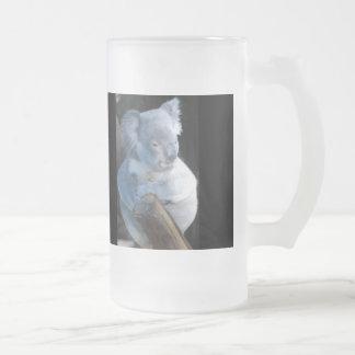 Cuddly Koala Frosted Glass Beer Mug