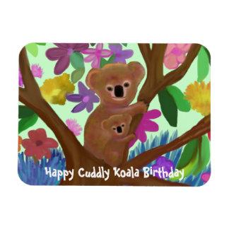 Cuddly Koala Happy Birthday Premium Magnet