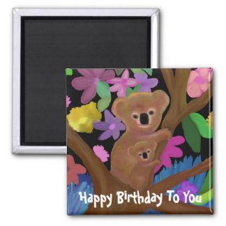 Cuddly Koalas Happy Birthday Magnet