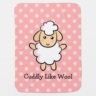 Cuddly Like Wool, Cute Sheep for Baby Girls Stroller Blanket
