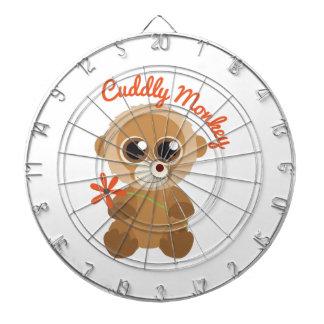 Cuddly Monkey Dart Board