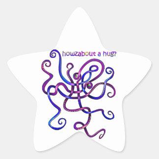 Cuddly Octopus Star Sticker