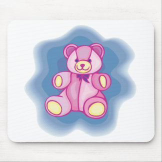 Cuddly Pink Teddy Bear Mouse Pad