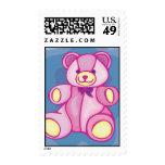 Cuddly Pink Teddy Bear Postage Stamp