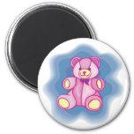 Cuddly Pink Teddy Bear Refrigerator Magnet