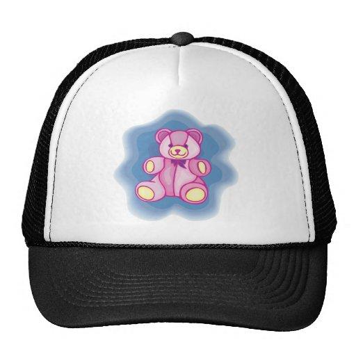 Cuddly Pink Teddy Bear Trucker Hat