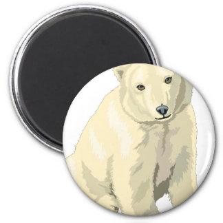 Cuddly  Polar Bear Magnet