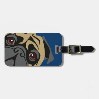 Cuddly Pug Bag Tag