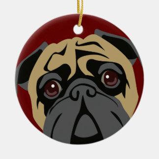 Cuddly Pug Ceramic Ornament