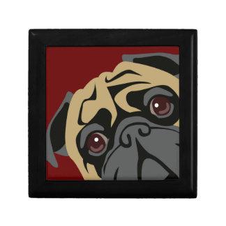 Cuddly Pug Jewelry Box