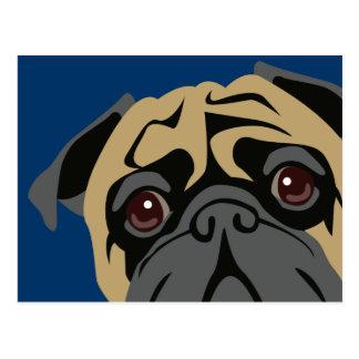 Cuddly Pug Postcard