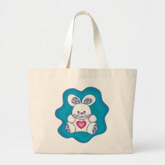 Cuddly Rabbit Large Tote Bag