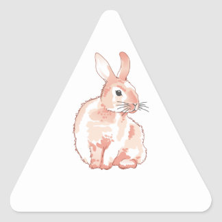 Cuddly Rabbit Triangle Stickers