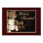 Cuddly Teddy Bear & Baby Shoes Invitation
