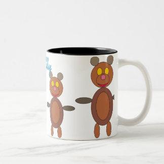 Cuddly Teddy Bears Two-Tone Coffee Mug