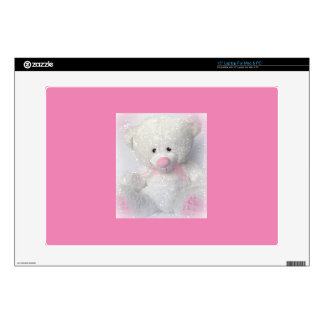 "Cuddly White Teddy Bear Skin For 15"" Laptop"
