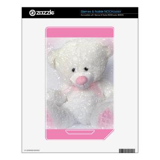 Cuddly White Teddy Bear NOOK Color Skin