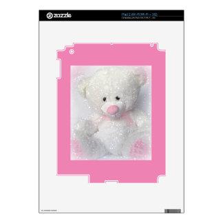Cuddly White Teddy Bear iPad 2 Skins