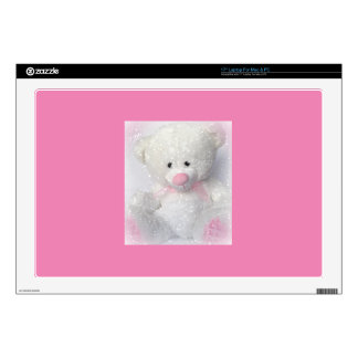 Cuddly White Teddy Bear Laptop Skin